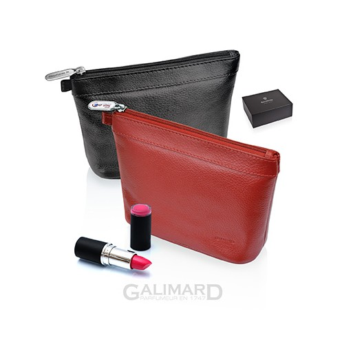 Trousse de maquillage cuir de GALIMARD
