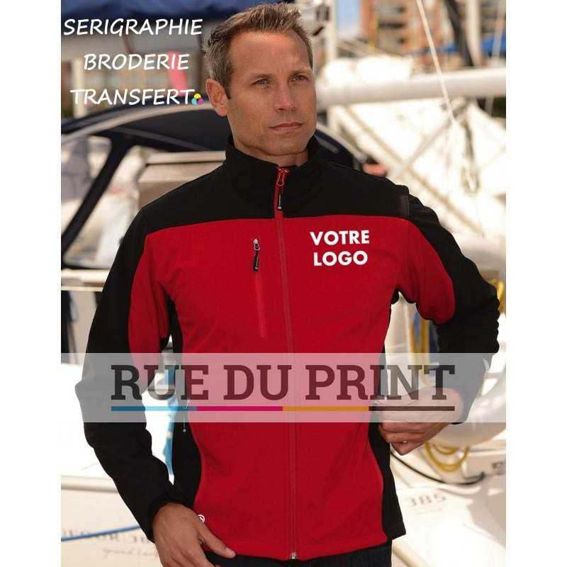 Veste publicité Softshell Edge Ext: 97% polyester, 3% élasthanne, 300 g/m² Int: 100% polyester (polaire)