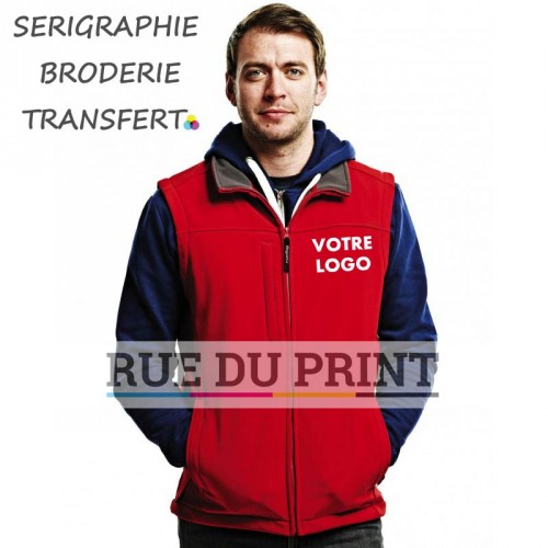 Softshell publicité Bodywarmer flux Ext: 96% polyester, 4% spandex int: 100% polyester (fleece en Seal Grey, excepté Navy/Navy)