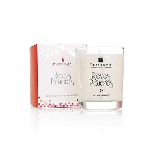 Bougie parfumée RÊVES POUDRÉS de PHYDERMA PARIS