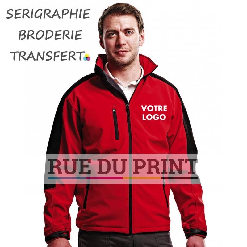 Softshell publicité Hydroforce Ext: 100% polyester doublure filet polyester