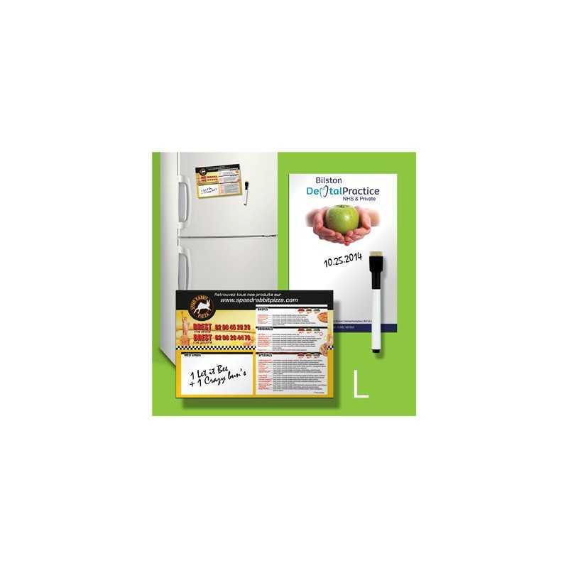 """Tableau magnétique """"L"""" personnalisable frigo"""