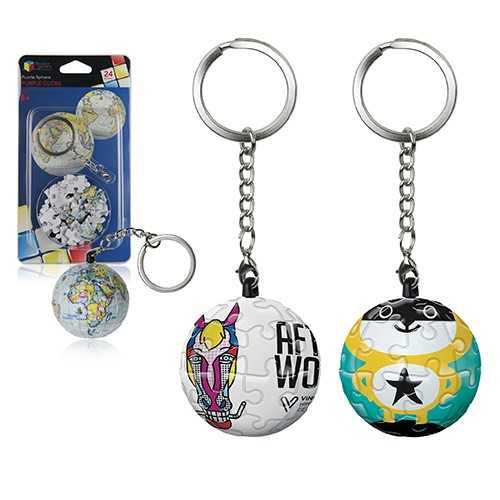 Porte-clés puzzle sphère