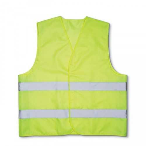VISIBLE Gilet personnalisable de sécurité 100% polyester tissé de Classe 2 avec surface réfléchissante haute visibilité.