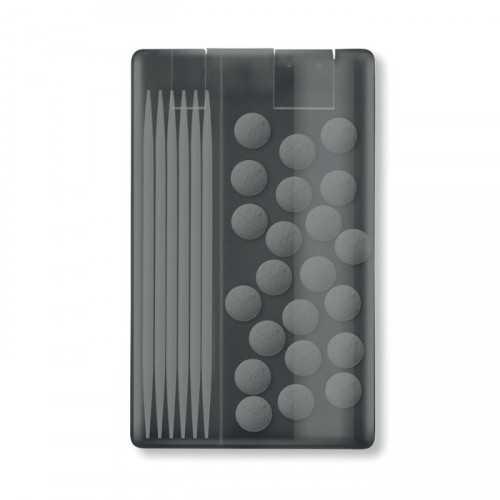 STICK&CANDIES Boite personnalisable au format carte de crédit contenant 30 pastilles menthe 4 gr et 7 cure-dents.