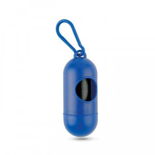 TEDY Coffret personnaisable en plastique avec mousqueton contenant 10 sacs pour déjections canine ,