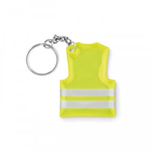 VISIBLE RING Porte-clés personnalisable gilet de sécurité réfléchissant.