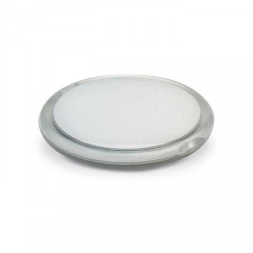 RADIANCE Double miroir personnalisable rond en couleur transparente.