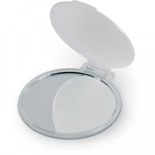 MIRATE Miroir publicitaire de maquillage. Plastique.