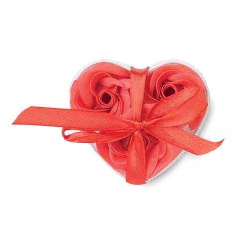 3 roses en feuilles de savon ROOS en boite PVC