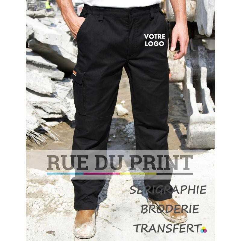 Pantalon publicitaire travail Guard Stretch 63% polyester, 34% coton, 3% élasthanne Doux, matière élastiquée pour plus d'ergono