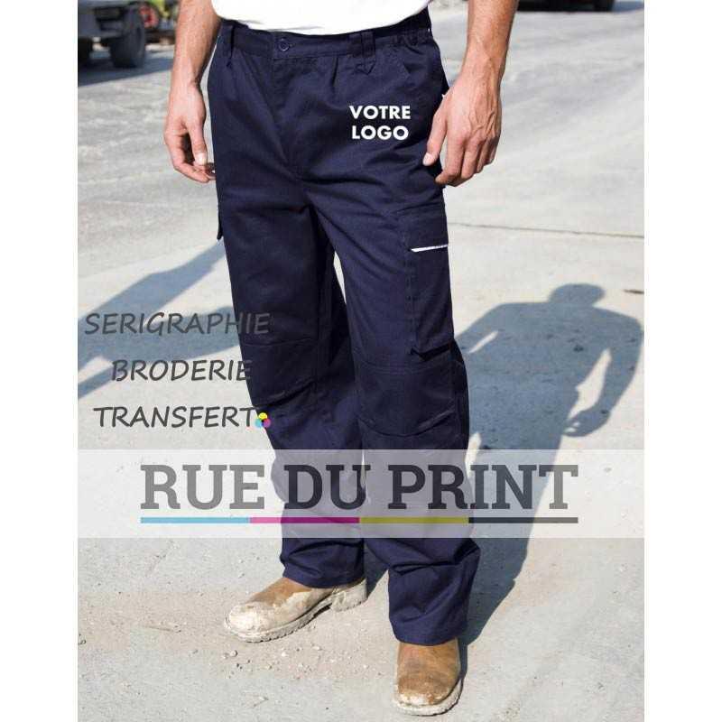 Pantalon publicité travail Action 65% polyester, 35% coton, 270 g/m2 Fermeture à glissière avec boutons pression