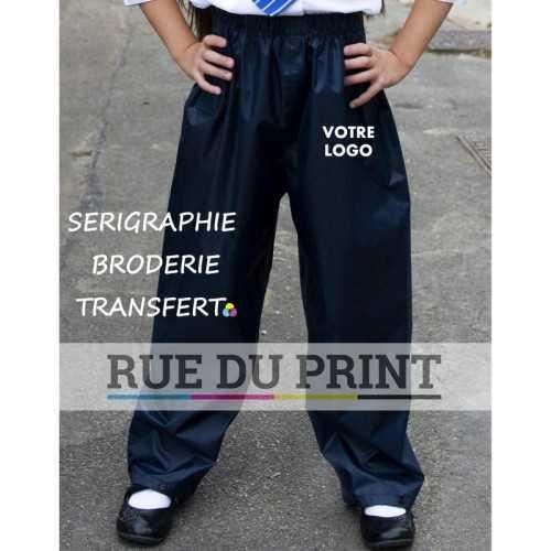 Pantalon publicité travail Junior Stormdri 100% polyester (190T) avec enduit PVC taille élastiquée