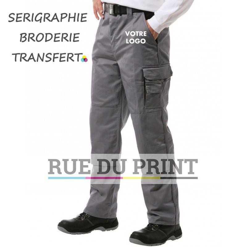 Pantalon publicité travail Contrast - Petites tailles 65% coton peigné, 35% polyester, 300 g/m²