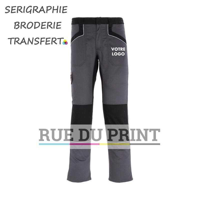 Pantalon publicité travail Industry court 65% polyester, 35% coton, 260 g/m² taille ajustable