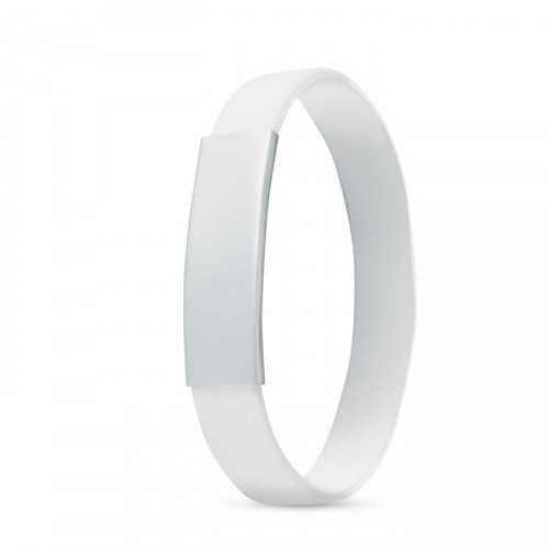Bracelet avec bande en silicone