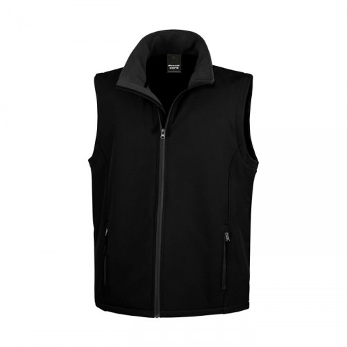 SOFT personnalisable SHELL BODYWARMER R232M 280 g/m2. 100% polyester (2 couches). Ext: sans élasthanne, tissu extensible.