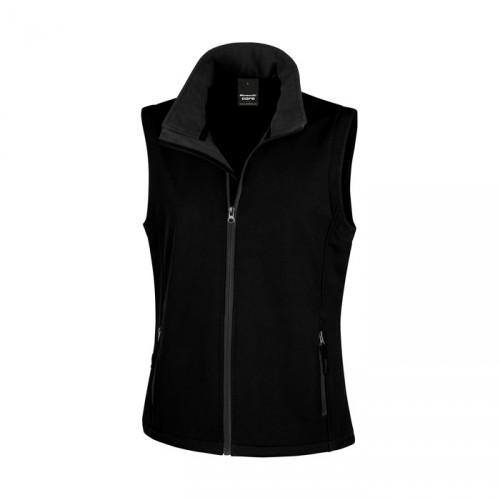 LADY personnalisable BODYWARMER R232F 280 g/m2. 100% polyester (2 couches). Ext: sans élasthanne, tissu extensible. Int: micro