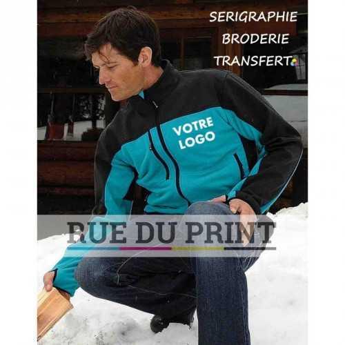 Veste publicité Hybrid 275-280 g/m² Ext: 100% polyester (microfleece), couleurs contrastées: 97% polyester, 3% spandex