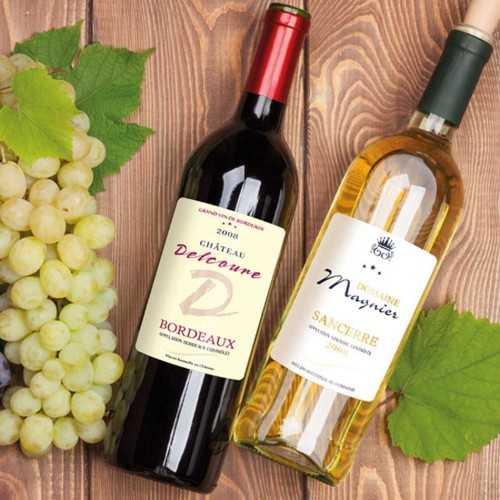 Étiquettes bouteilles de vin personnalisées vergé