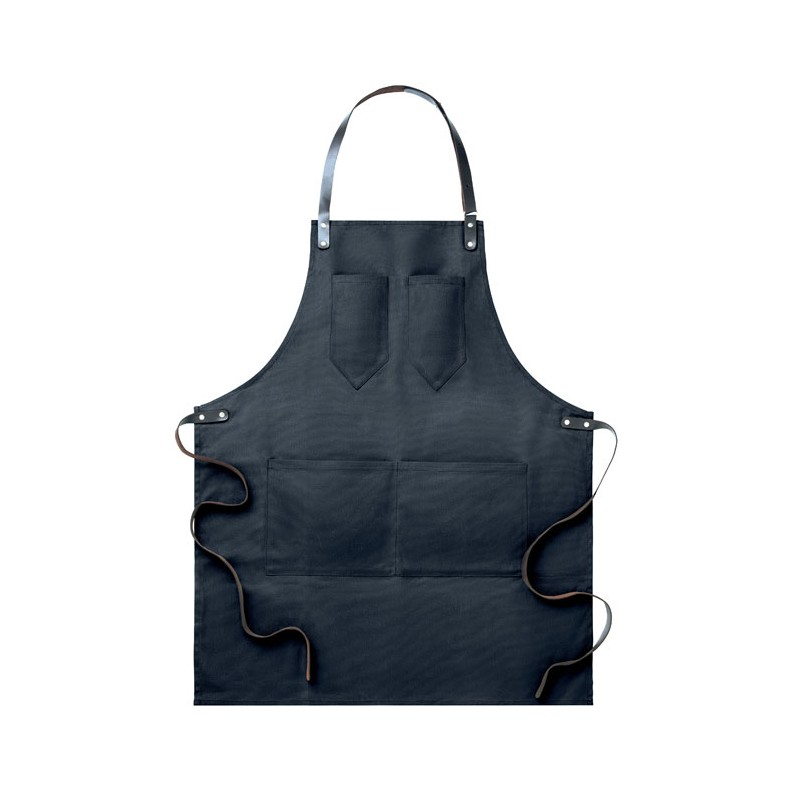 Tablier en toile CHEF personnalisé deux poches cœur et une grande poche devant 0.445 kg