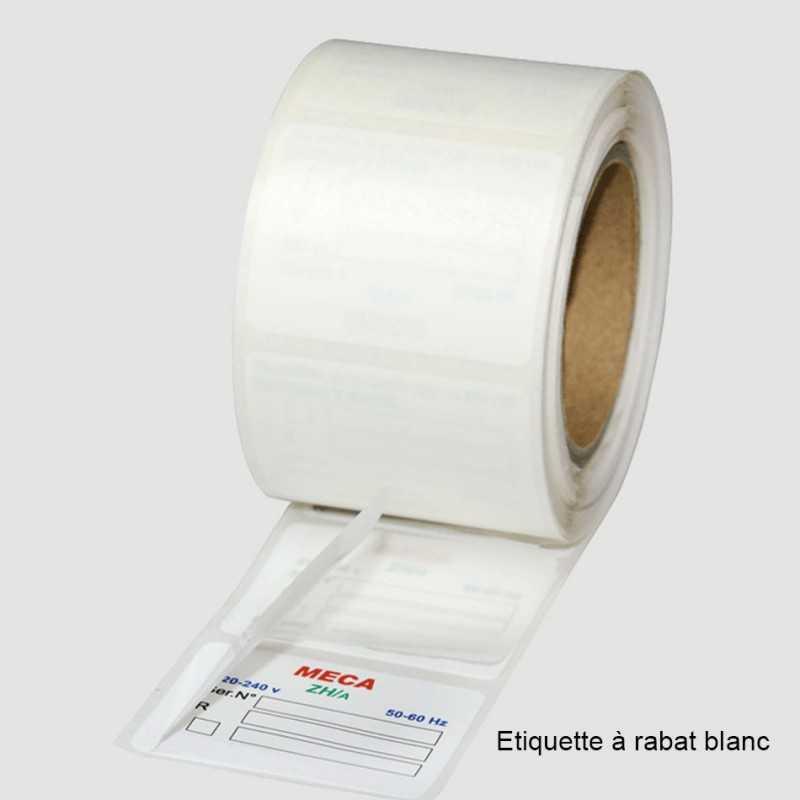 Étiquettes personnalisables rouleaux à rabat