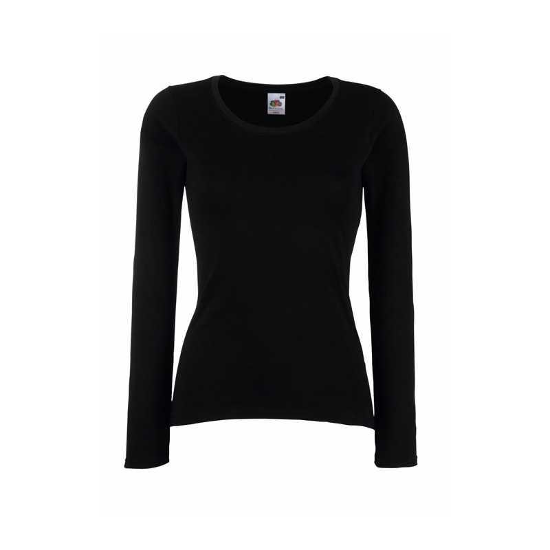 LADY-FIT personnalisable noir face VALUE WEIGHT 61-404-0 165 g/m2 (Blanc: 160 g/m2). 100% coton (fil Belcoro®).