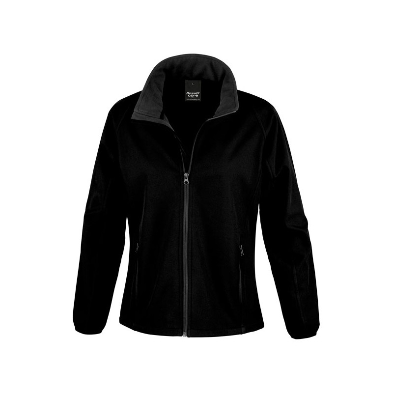 SOFT personnalisable noir face SHELL JACKET LADIES R231F 280 g/m2. 100% polyester (2 couches). Ext: sans élasthanne, tissu exten