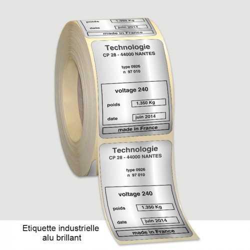 Étiquettes personnalisables industrielles 1-2 couleurs