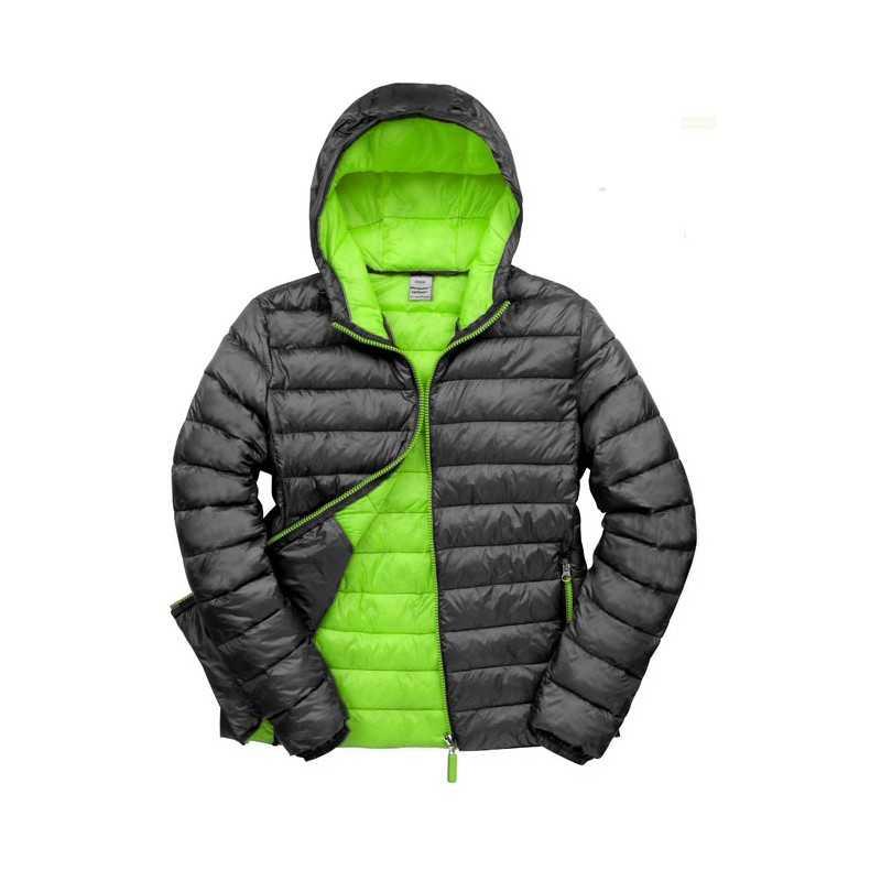 SNOW personnalisable noir face BIRD HOODED JACKET R194M 300 g/m2 Ext: 100% nylon (20D). Int: 100% nylon (20D), rembourrage: 100%