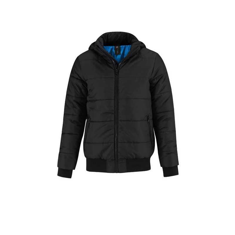 SUPERHOOD personnalisable noir face MEN JM940, 325 gr/m2. Extérieur: 100% polyester (300T taffetas), revêtement AC