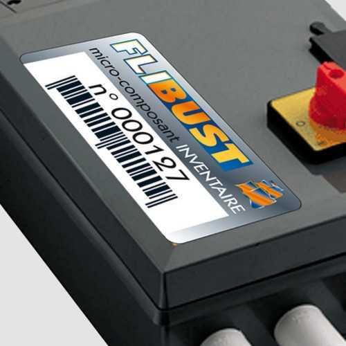 Étiquettes collantes personnalisées industrielles QUADRI