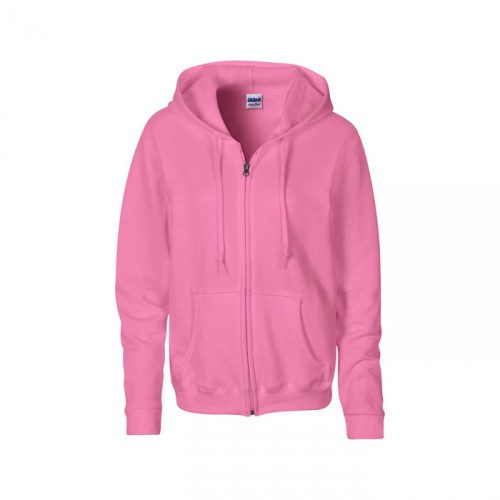 LADIES personnalisable azalée face SWEATER HOOD ZIP 18600L 255-270 g/m2. 50% Coton, 50% Polyester prérétréci.