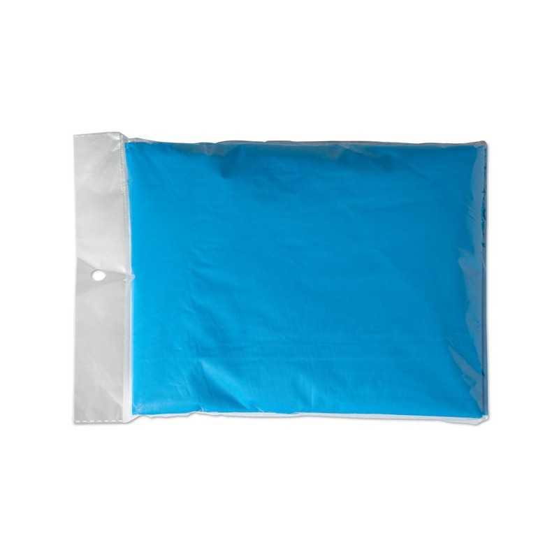 BAILEY Imperméable personnalisé à capuche pour enfant, en plastique, pliable emballé dans un polybag transparent.