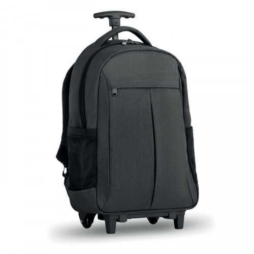 STOCKHOLM TROLLEY Sac publicitaire à dos trolley avec dos renforcé en 360D, compartiment pour portable 15'',