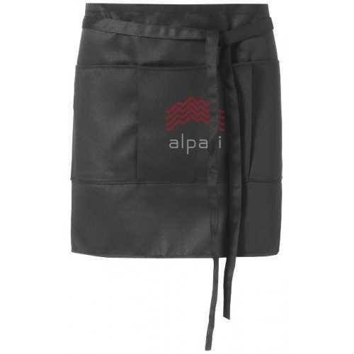 Tablier publicitaire court Lega ceinture de 0,9 m à attacher dans le dos 65% polyester et 35% coton.