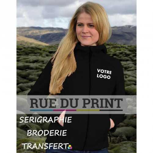 Veste publicité femme Nordic 450 g/m² 100% polyester, doublé micropolaire capuche intégrée