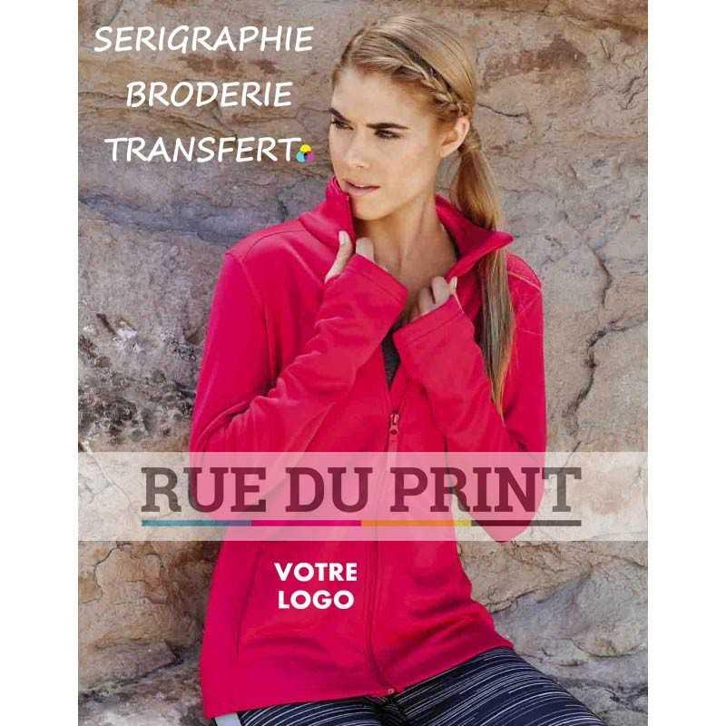 Veste polaire publicitaire femme Active 240 g/m² 100% polyester (doublé polyester) matériau doux