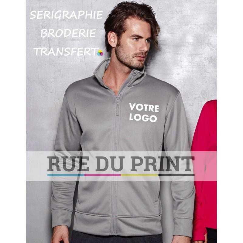 Veste polaire publicité homme Active 240 g/m² 100% polyester (doublé polyester) matériau doux
