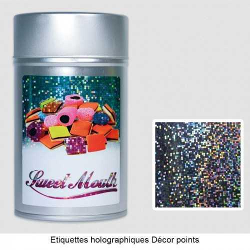 Étiquettes publicitaires collantes holographiques