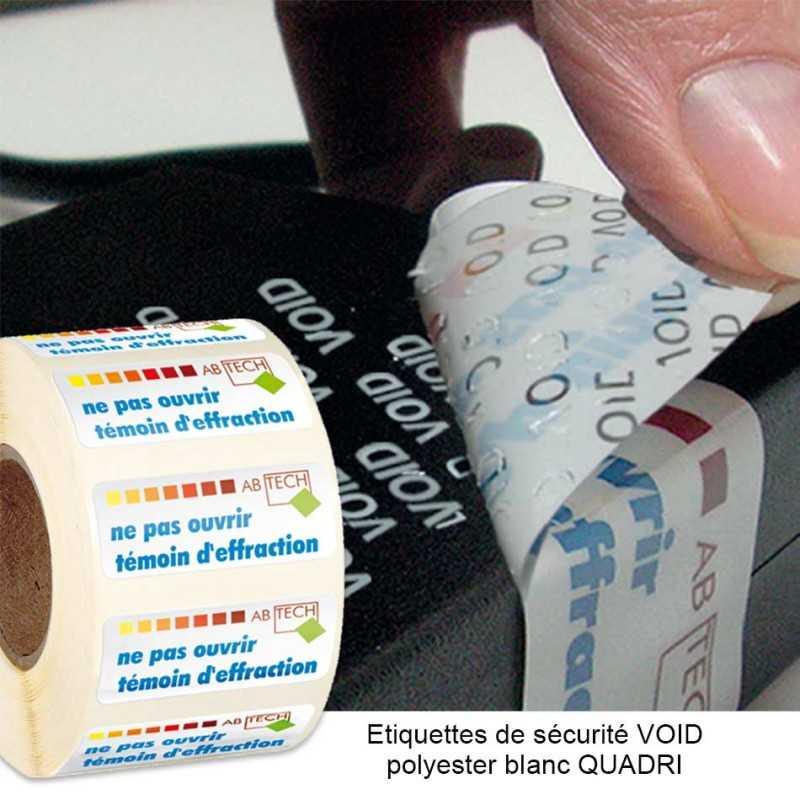 Étiquettes personnalisées collantes de sécurité VOID