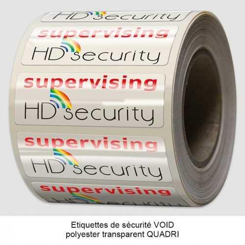 Étiquettes de sécurité VOID RED/UV
