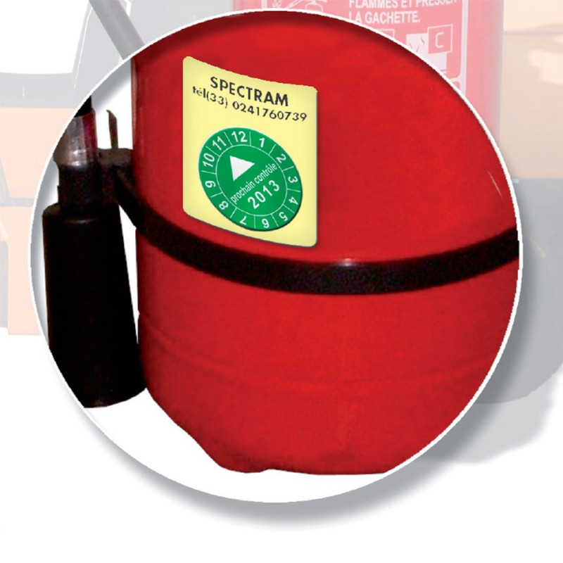 Étiquettes personnalisables pastilles calendriers collantes