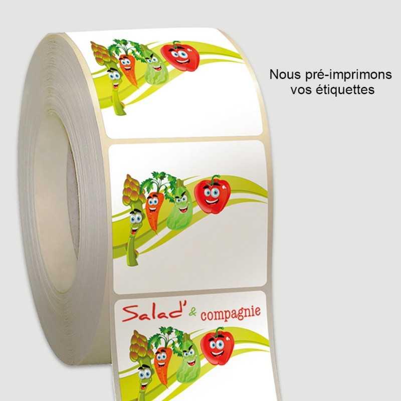Étiquettes personnalisables rouleaux thermique-direct