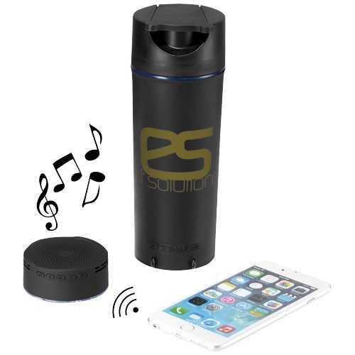 Flacon personnalisable audio Bluetooth® Rhythm Fourni avec le câble de recharge USB vers Micro USB. Présentation dans un coffre