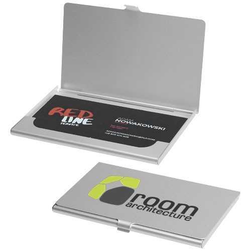 Porte-cartes personnalisable de visite Shangaï Porte -cartes de visite en aluminium. Peut contenir 10 cartes de visite environ.