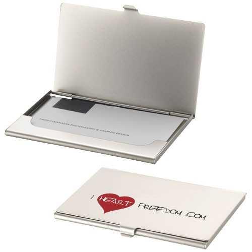 Porte-cartes publicité de visite Singapore Peut contenir environ 10 cartes de visite. Métal.