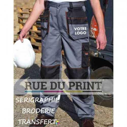 Pantalon publicité x-over Heavy 65% polyester, 35% coton (sergé), 270 g/m² Poches: 100% polyester (600D Oxford) avec revêtement