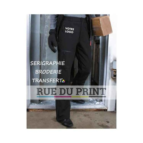 Pantalon publicité femme Soft Shell ext: 93% polyester, 7% élasthanne, 300 g/m² couche moyenne: membrane respirante TPU, résist