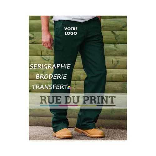 Pantalon publicité sergé 65% polyester, 35% coton twill, 245 g/m2 taille élastiquée pour plus de confort